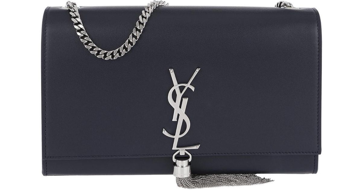 Saint Laurent Ysl Monogramme Medium Chain Bag Navy in Blue - Save 15% - Lyst f78e1555bf