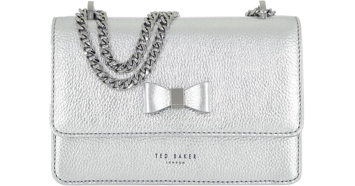 2f1ae031a1861 Ted Baker Drayaa Crossbody Bag Silver in Metallic - Lyst