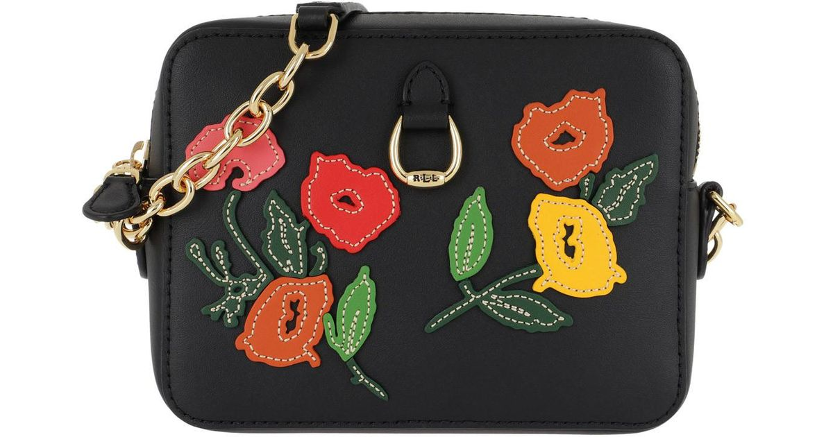 55943b9951 Lauren by Ralph Lauren Bennington Crossbody Bag Black multi Floral in Black  - Lyst