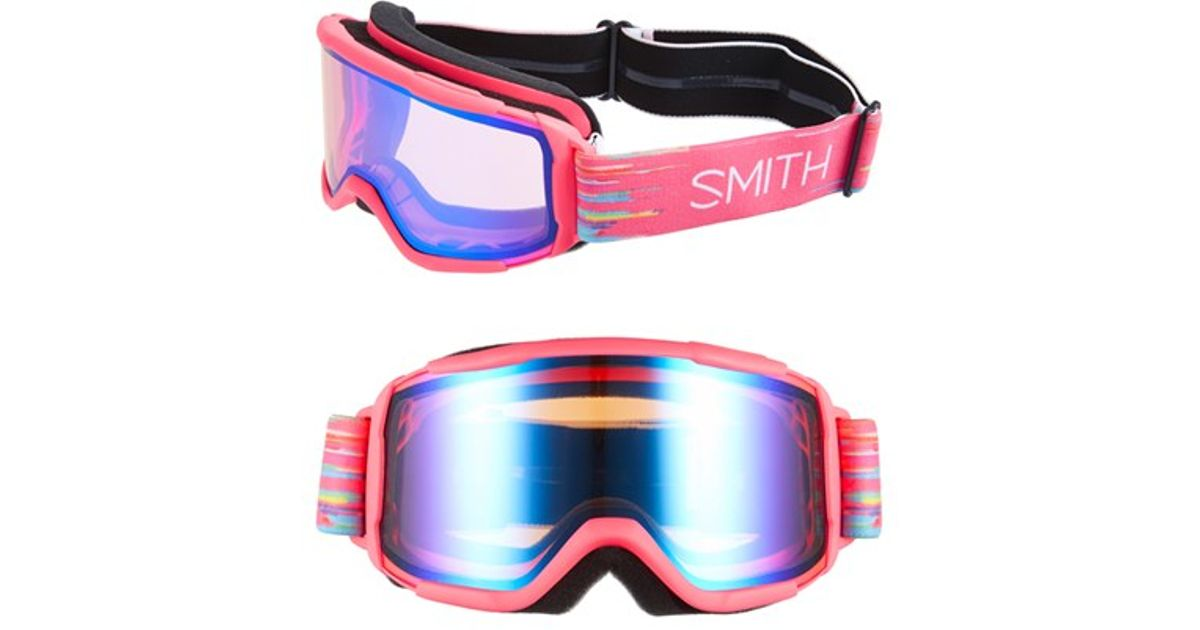 5c0a4c359d Lyst - Smith Optics  daredevil  171mm Snow Goggles - Impulse  Blue Sensor  Mirror in Blue