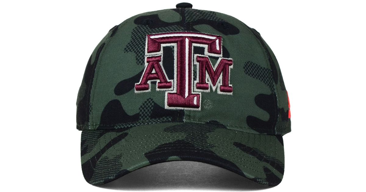 online store e7e13 7fa9f Lyst - Adidas Texas A m Aggies Veterans Day Camo Slouch Adjustable Cap in  Green for Men