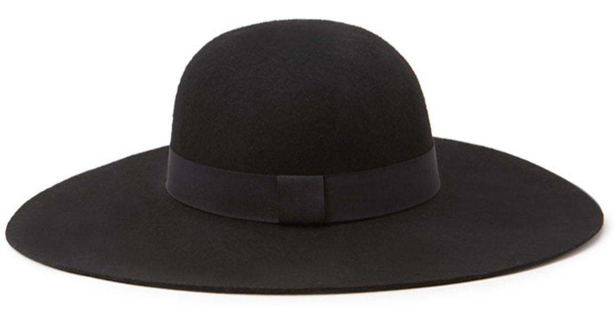 Lyst - Forever 21 Floppy Wide-brim Hat in Black 5b5c5d31264