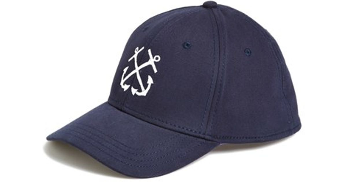 e24277b13cd Lyst - Gents Double Anchor Baseball Cap in Blue for Men
