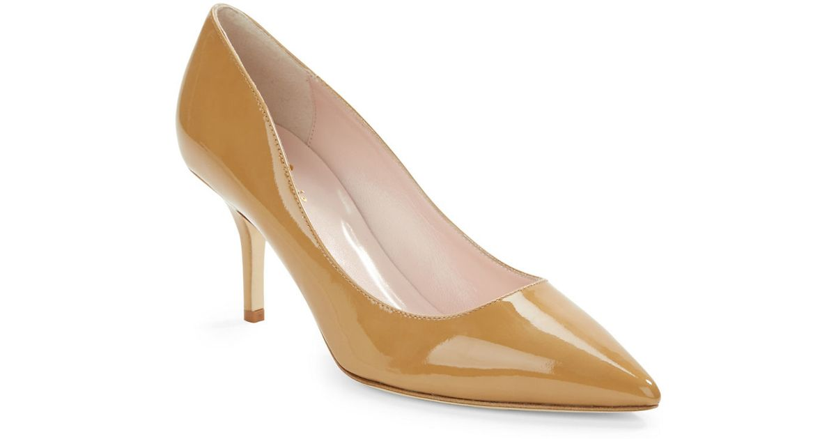 Kate spade new york Jessa Nude Pumps in Natural | Lyst