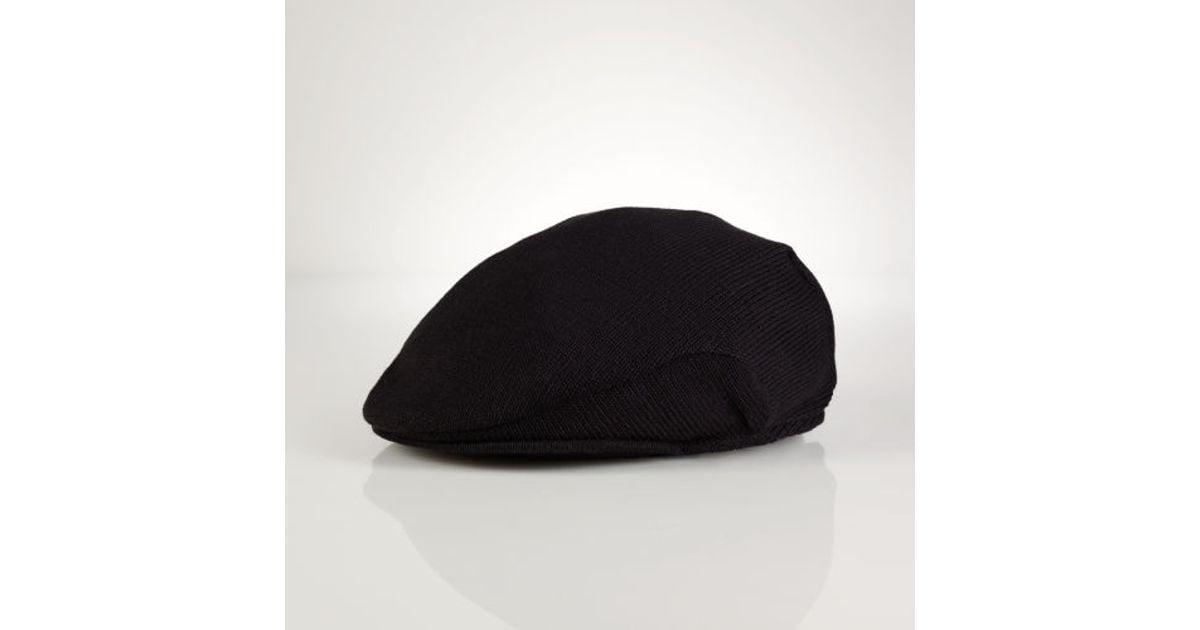 148d04c4a4b1c ... lyst polo ralph lauren knit driving cap in black for men