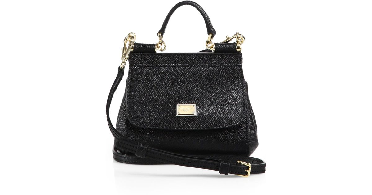 30e968683f2 ... the best attitude b0596 089f4 Lyst - Dolce Gabbana Sicily Micro Textured  Leather Top-handle ...
