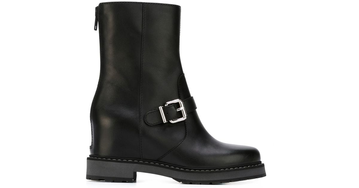 fendi concealed wedge boots in black lyst