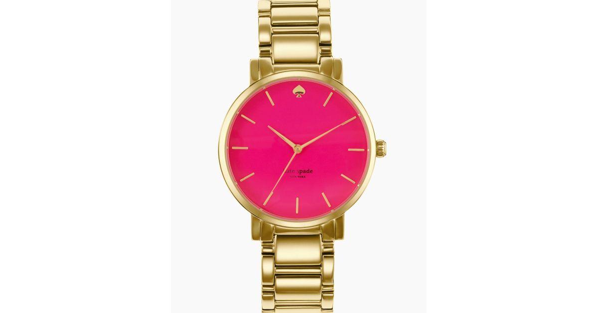 Lyst Kate Spade New York Womens Gramercy Grand Goldtone Bracelet Watch 38mm In Metallic