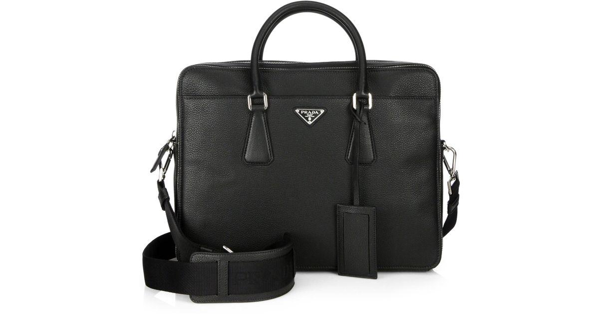 4e89e2fdac92a2 prada black grain leather bag