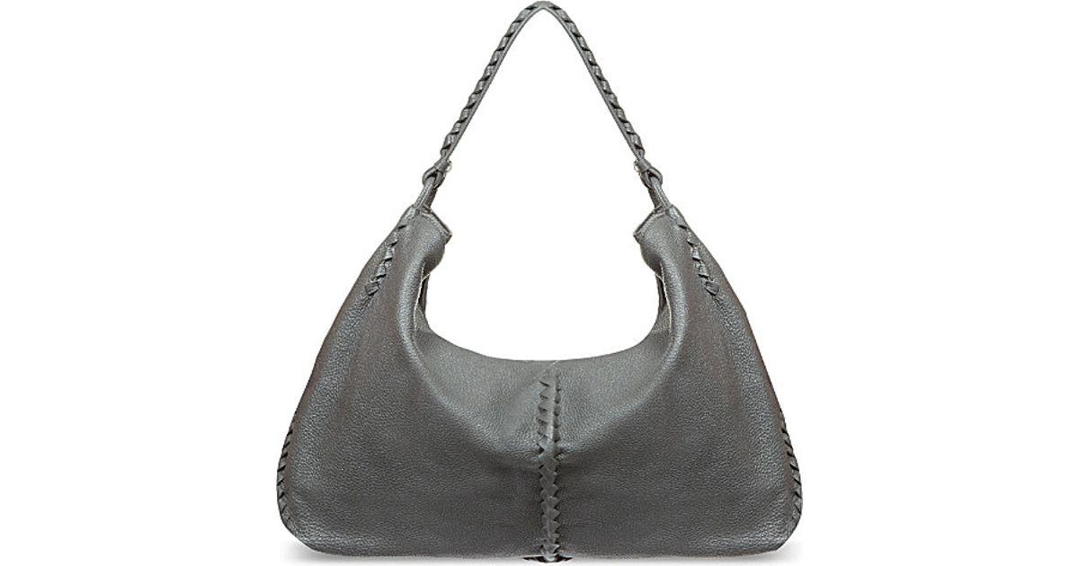 Bottega Veneta Cervo Lavato Large Hobo Bag in Gray - Lyst e875079fc6ab2