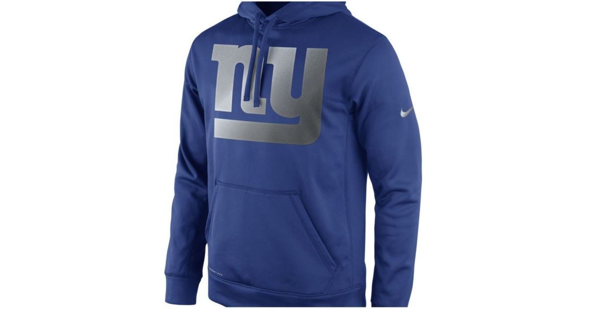Lyst - Nike Men s New York Giants Reflective Ko Hoodie in Blue for Men 363c65cc3