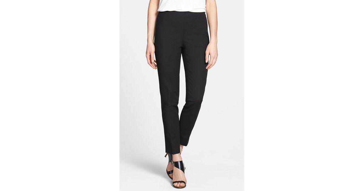 Vince Camuto Side Zip Pants In Black Lyst