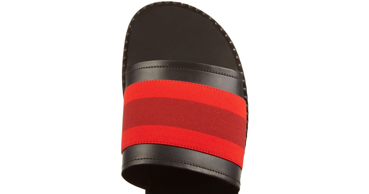 Saint Laurent Men Shoes Red Stripes