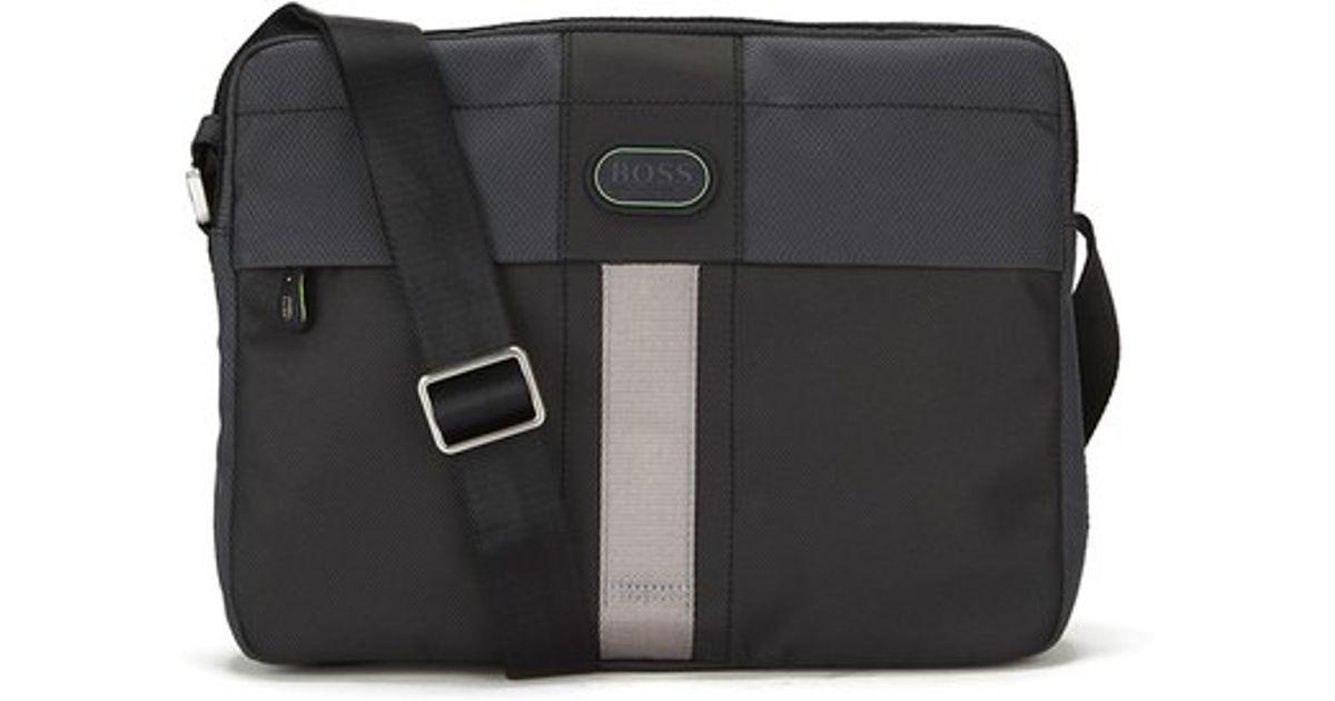 d2f1c7d987 Boss Green Men s Filps Oxford Shoulder Bag in Green for Men - Lyst