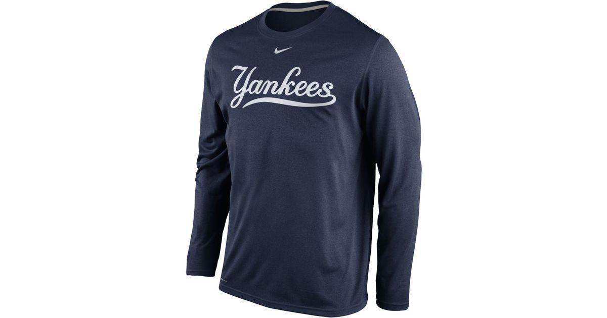 Lyst - Nike Men s Long-sleeve New York Yankees Legend T-shirt in Blue for  Men 28a7be3d0281