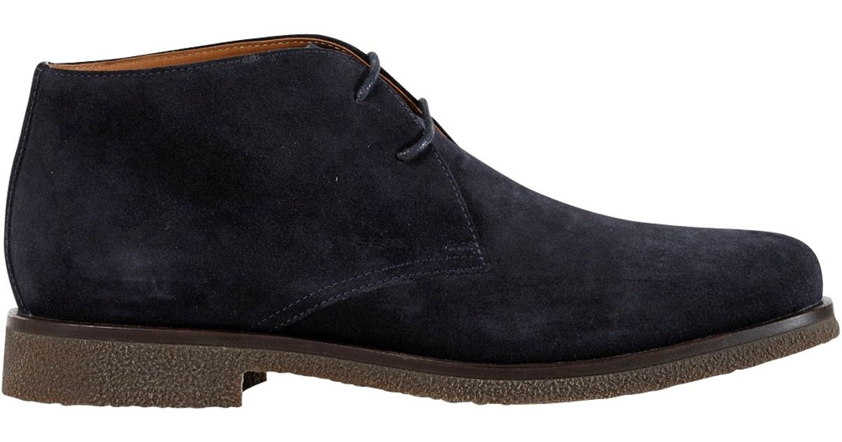 geox claudio suede chukka boots in blue for lyst
