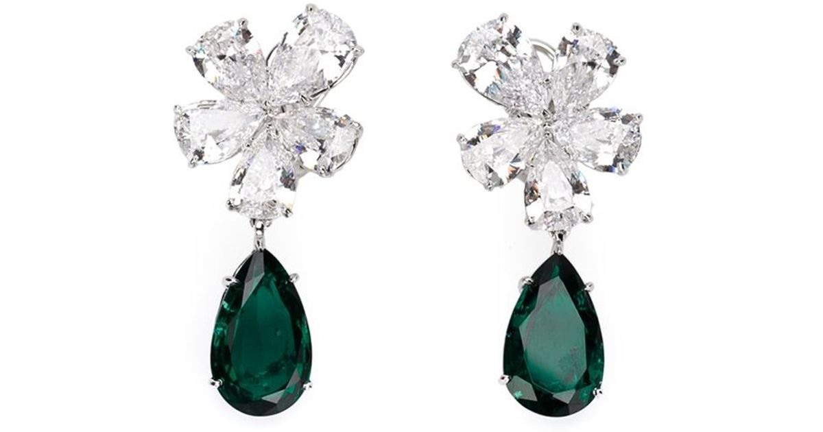 runway cubic michael earrings pear p stone kors drop zirconia s