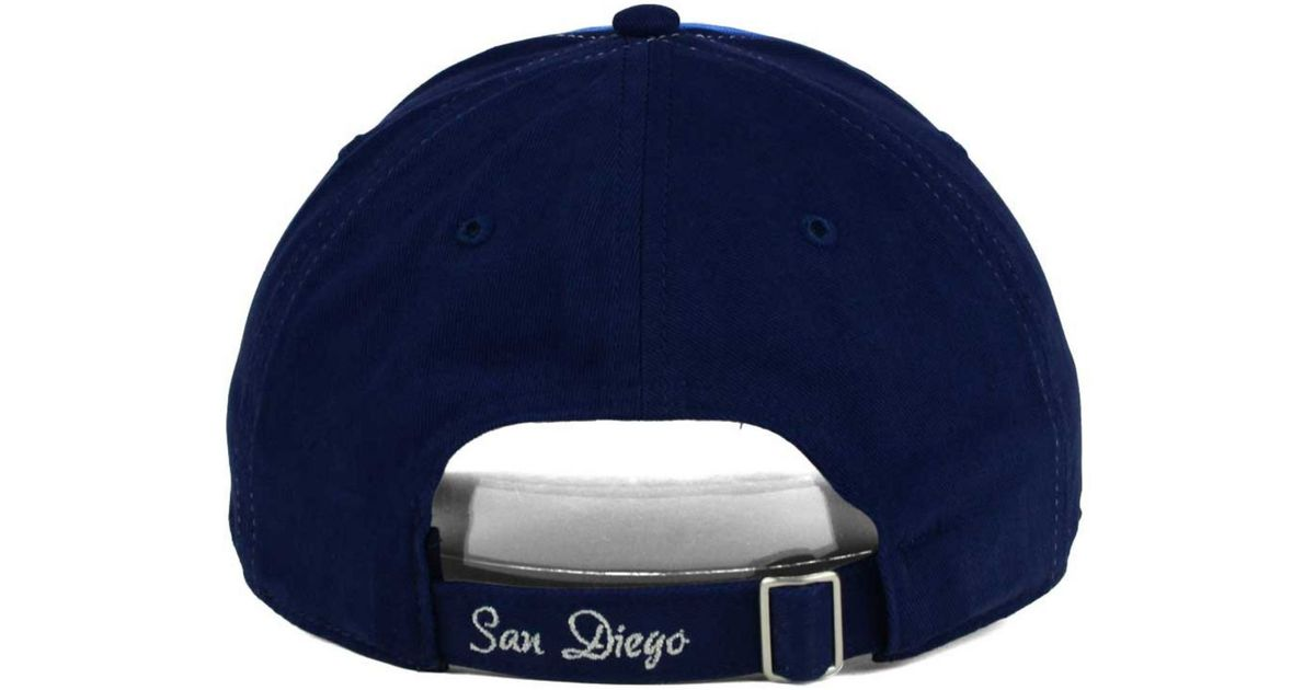 outlet store 601ed 13cf9 47 Brand Women s San Diego Chargers Sparkle 2-tone Adjustable Cap in Blue -  Lyst