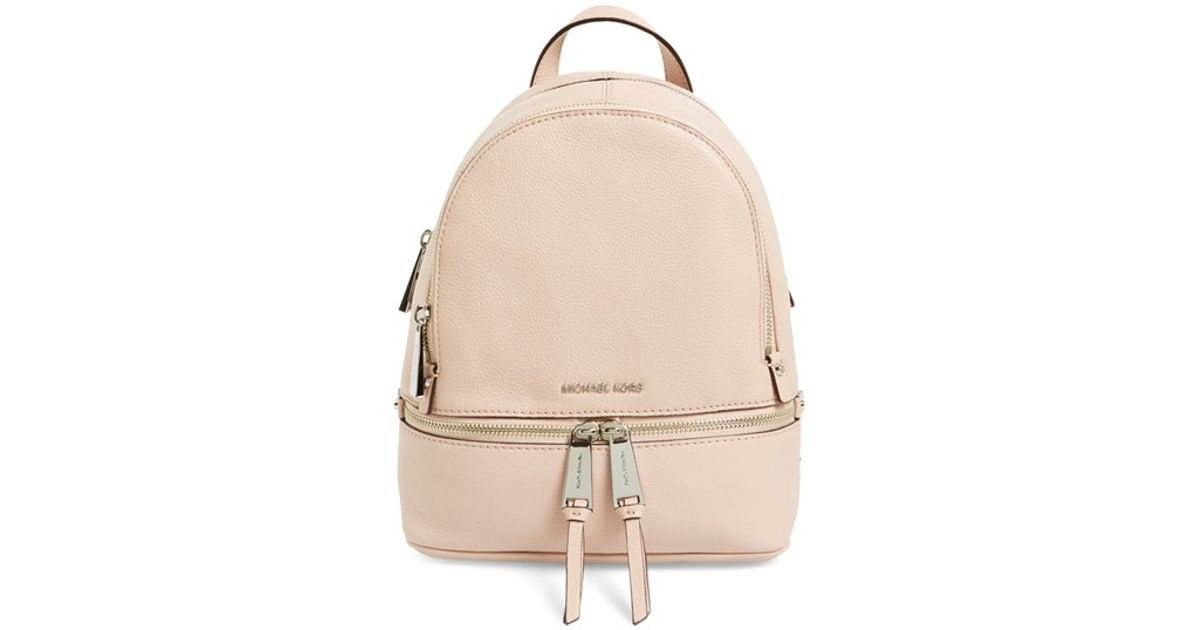 016cddf66ee8 MICHAEL Michael Kors 'extra Small Rhea Zip' Leather Backpack in Pink - Lyst