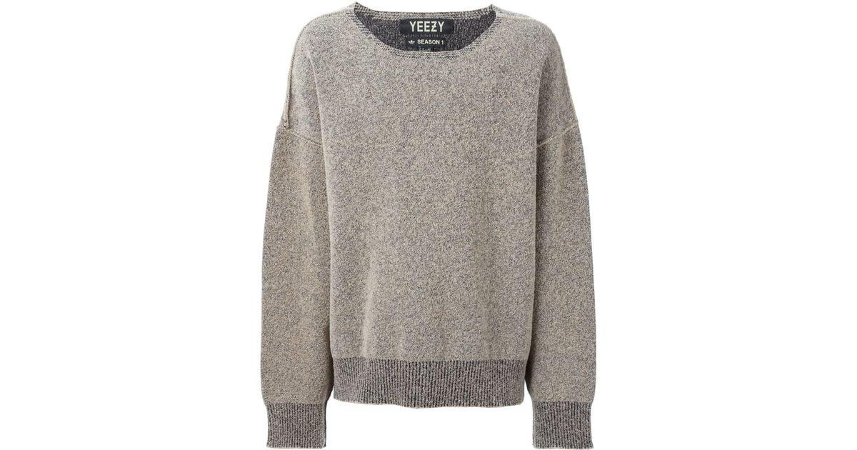 Gray Sweater West Kanye Yeezy In Originals By Lyst Oversize Adidas DIYeWE2bH9