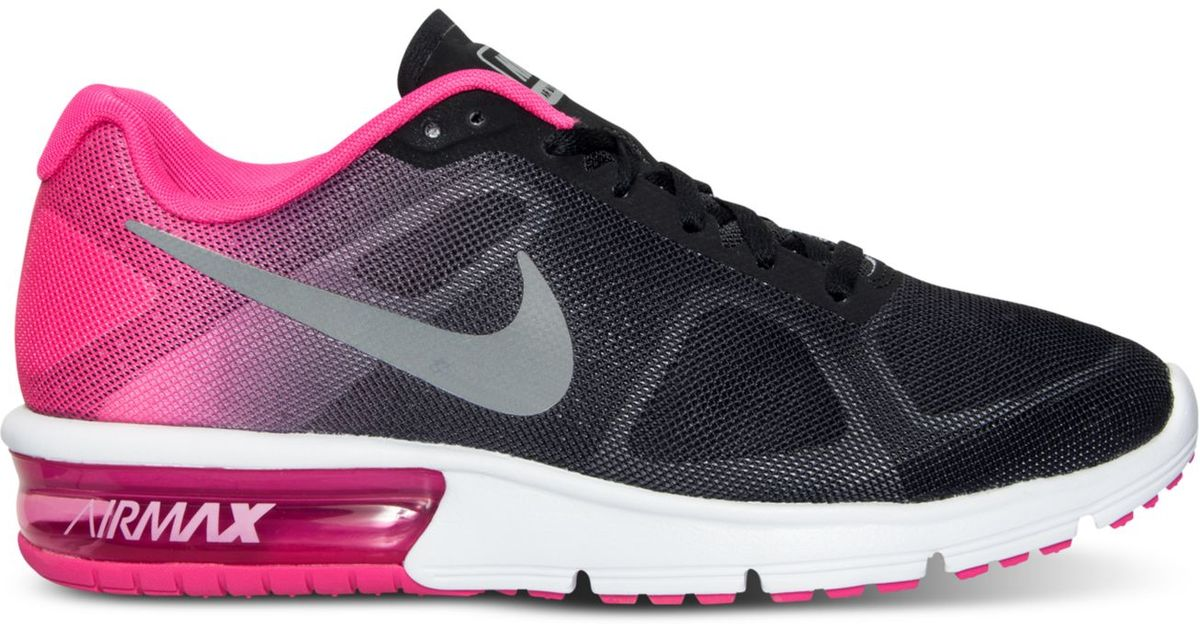 8943033e59 ... norway lyst nike womens air max sequent running sneakers from finish  line in black 53cca bd113