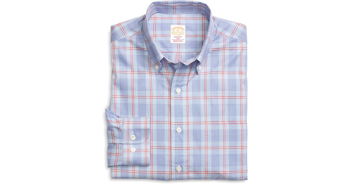 Brooks brothers golden fleece madison fit glen plaid for Brooks brothers tall shirts