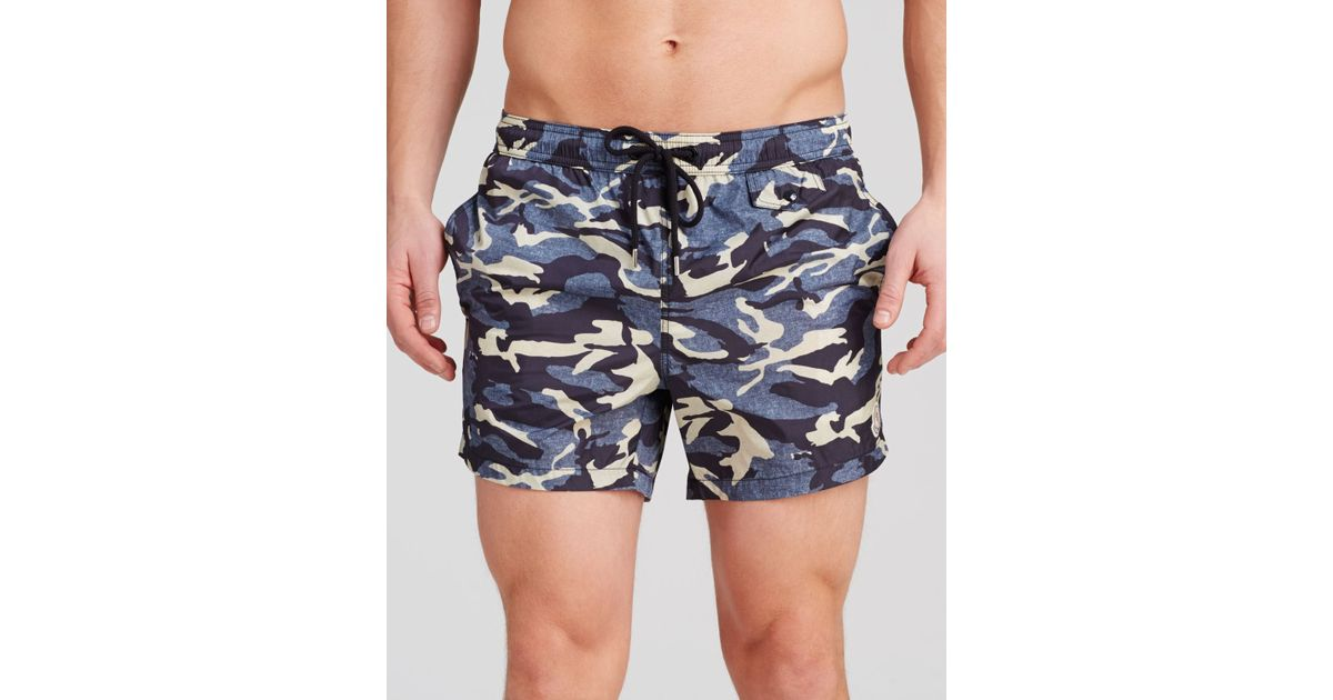 99161df1c Lyst - Moncler Camouflage Swim Shorts in Blue for Men