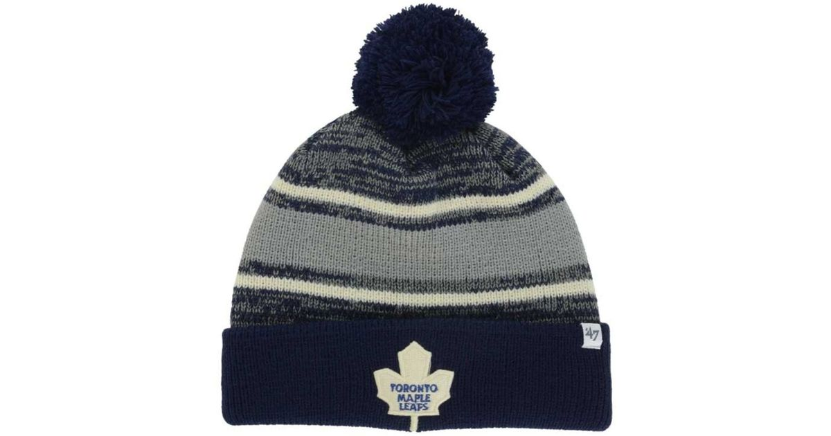 5a8a3cac9f6 Lyst - 47 Brand Toronto Maple Leafs Fairfax Pom Knit Hat in Blue for Men