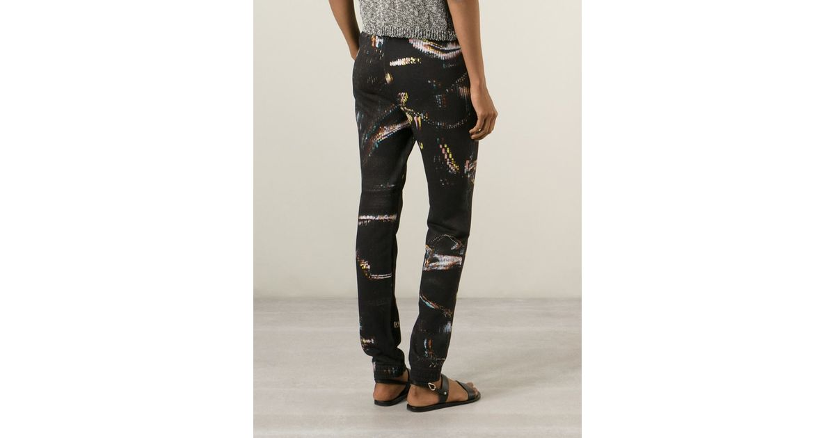 9f9f00a440b Lala Berlin Abstract-Print Cotton Sweatpants in Black - Lyst