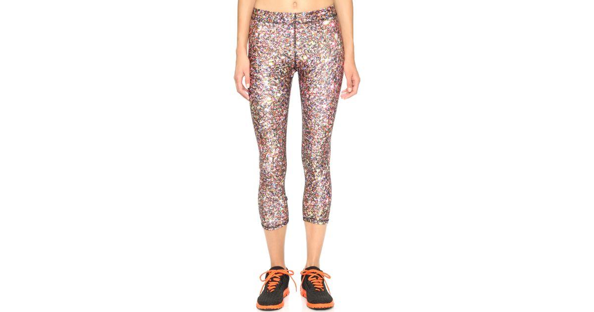 a9aebbd70ff4c Terez Glitter Capri Leggings - Lyst