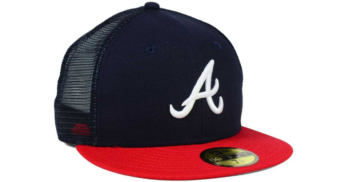 sports shoes 0d8db fa611 Lyst - KTZ Atlanta Braves Mesher 59fifty Cap in Blue for Men