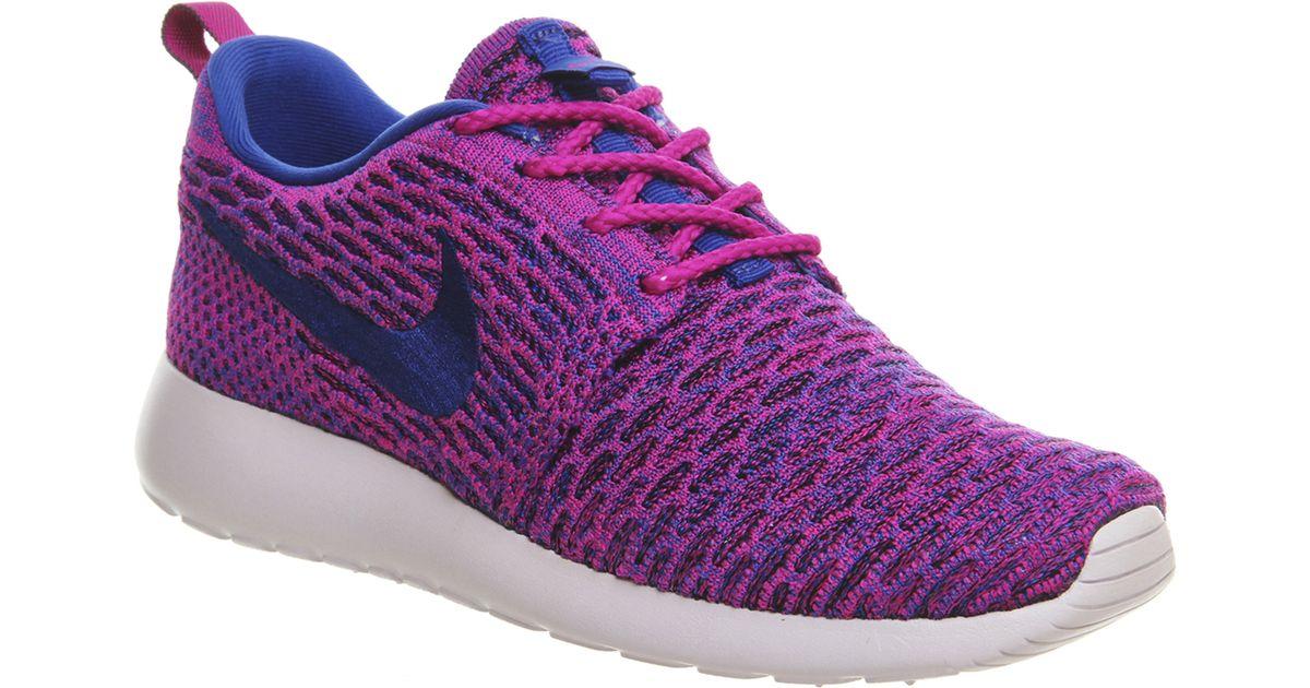 wholesale dealer 74b6f 2f79e Nike - Purple Roshe Run Flyknit (w) - Lyst