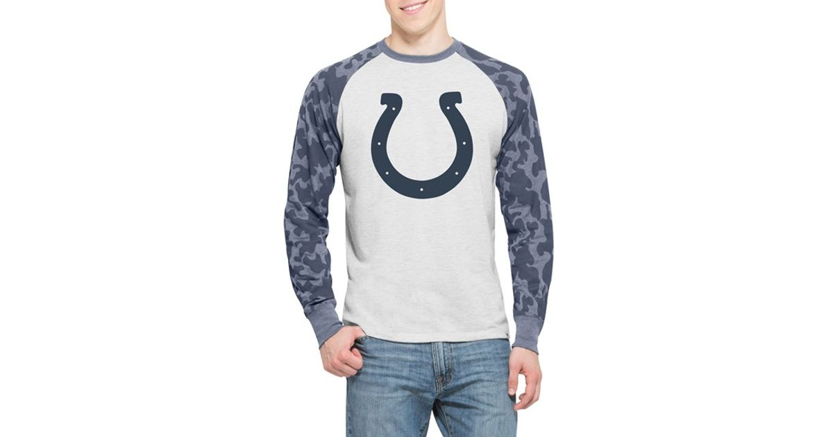 c571a949a 47 brand  indianapolis Colts - Stealth  Camo Raglan Pullover in White for  Men