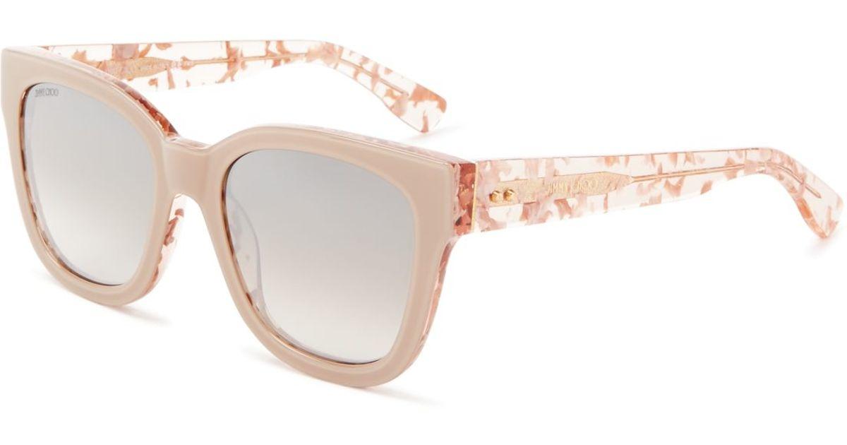 014581ebbd Jimmy Choo - Gray Otti Mirrored Square Sunglasses