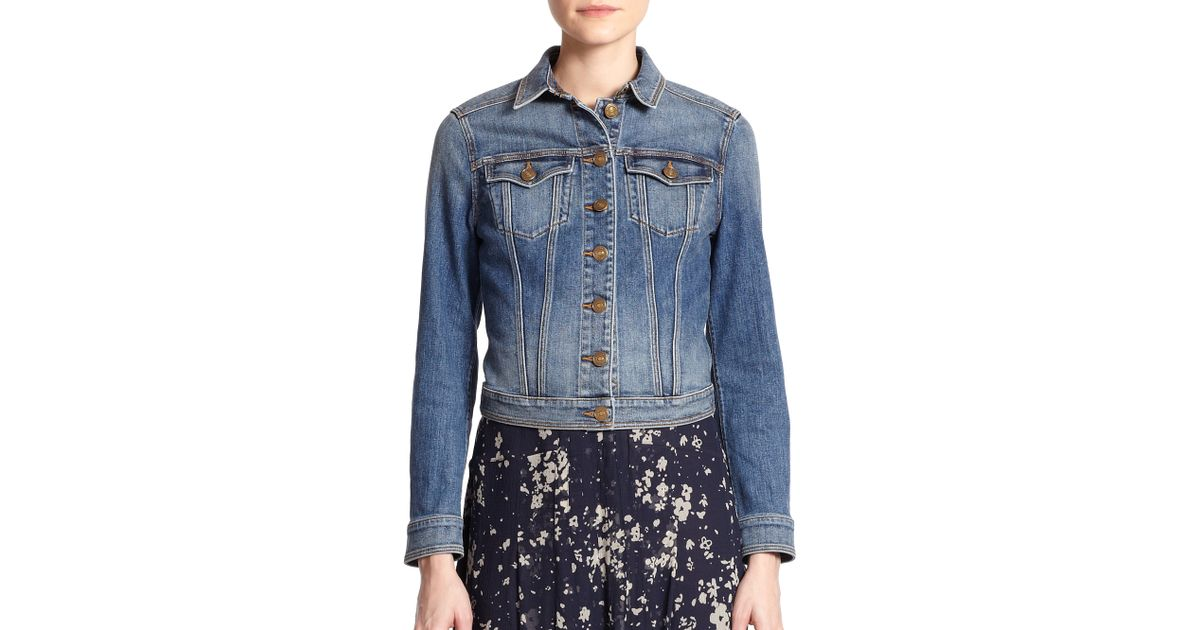 Lyst - Burberry Brit Dymchurch Denim Jacket in Blue 61c22099513