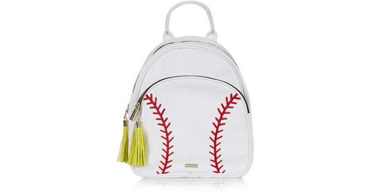 387563a1b220 TOPSHOP Baseball Crossbody Bag By Skinnydip in White - Lyst