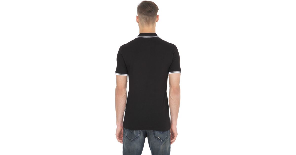 e8d75d5a2a Lacoste Slim Fit Stretch Cotton Piqué Polo in Black for Men - Lyst
