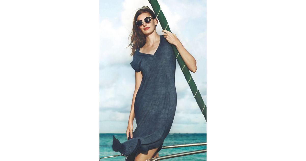 Cloth Amp Stone Nila T Shirt Dress In Blue Lyst