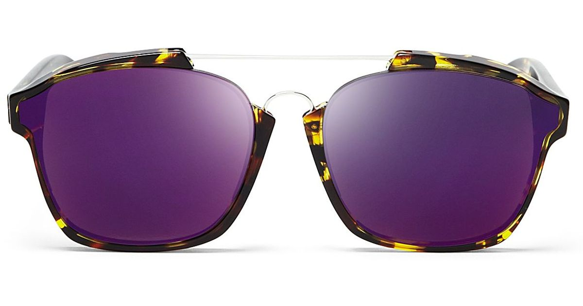4ac2550bb5ba9 Dior Abstract Square Mirrored Sunglasses in Purple - Lyst
