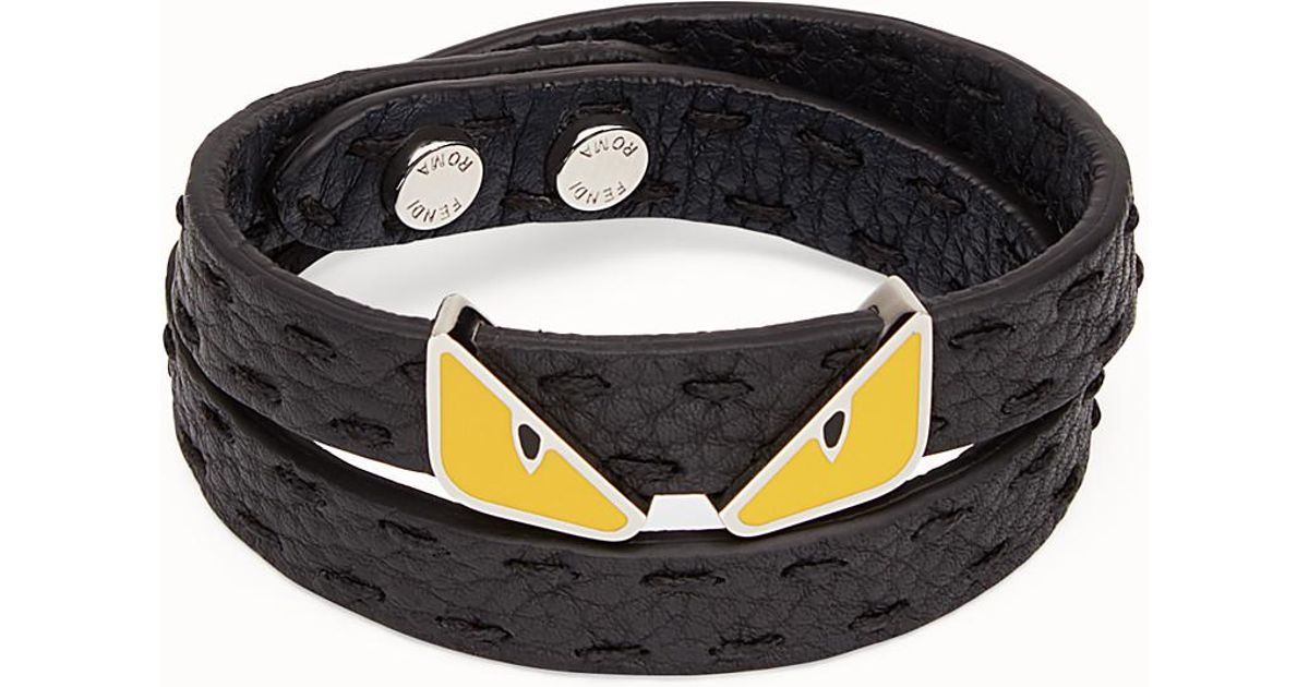 f5227dbe76c0 Lyst - Fendi Double Tour Bracelet Double Tour Bracelet in Black for Men -  Save 38%