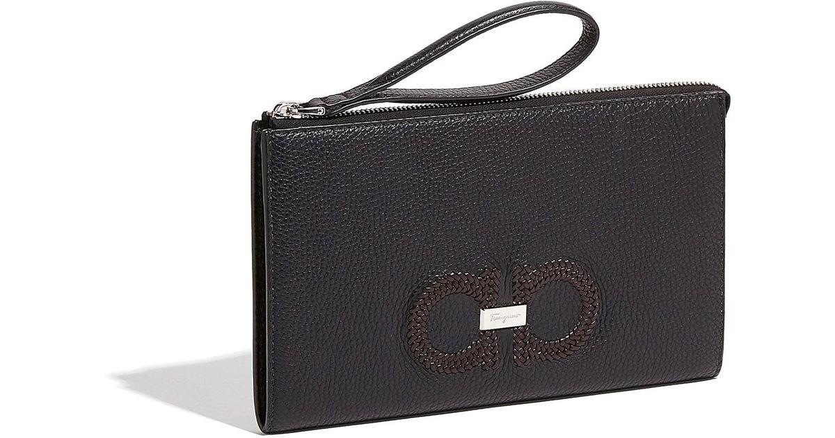 Lyst - Ferragamo Travel Document Holder in Black for Men a381865200209