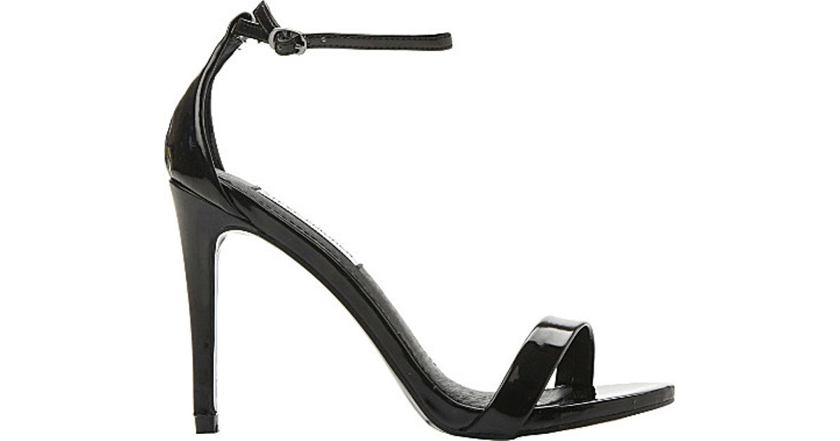 93d6e4aa66 Steve Madden Stecy Patent-leather Heeled Sandals in Black - Lyst