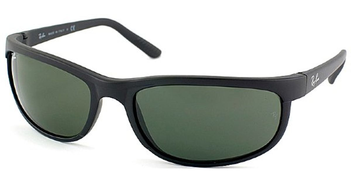 d9b6f4c1ac Ray-ban Rb 2027 W1847 Matte Black Rectangle Plastic Sunglasses in Black