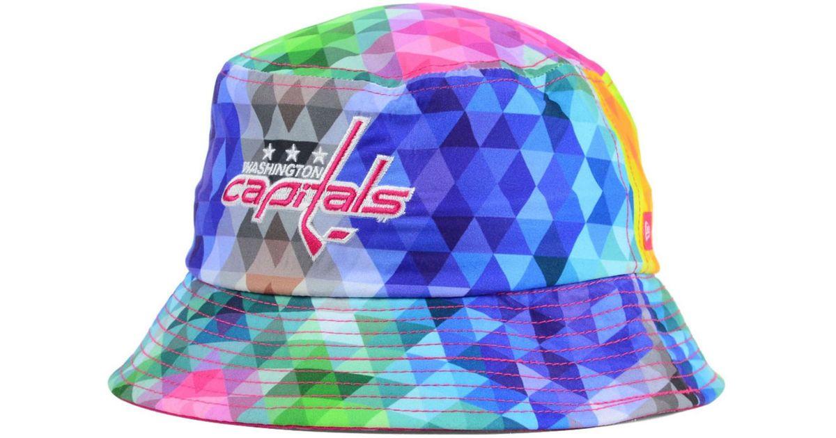 Lyst - KTZ Girls  Washington Capitals Gem Bucket Hat in Blue d18617e956d