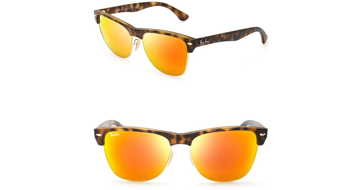 af9c00b10a ... sweden lyst ray ban mirrored clubmaster sunglasses in brown 43ab6 831e9
