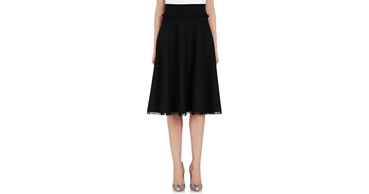 a l c s compact knit a line skirt in black save