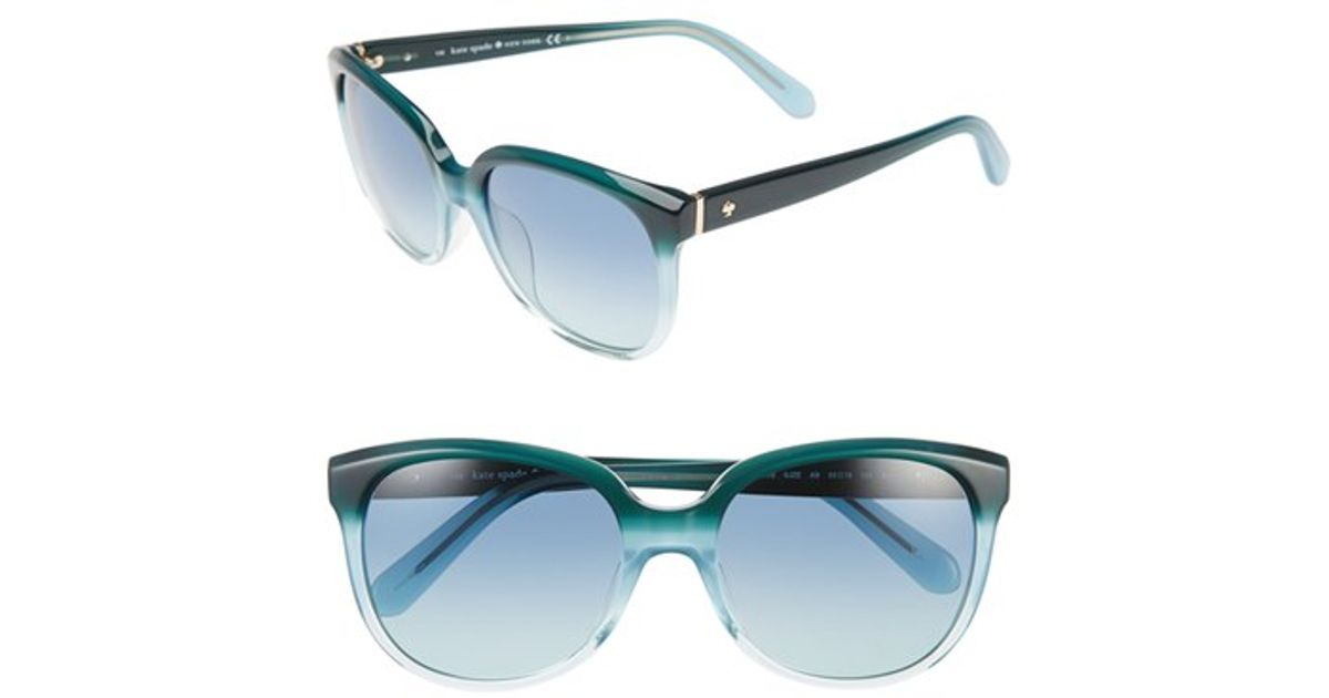 d246769f9f37e Lyst - Kate Spade  bayleigh  55mm Sunglasses - Turquoise Fade in Blue