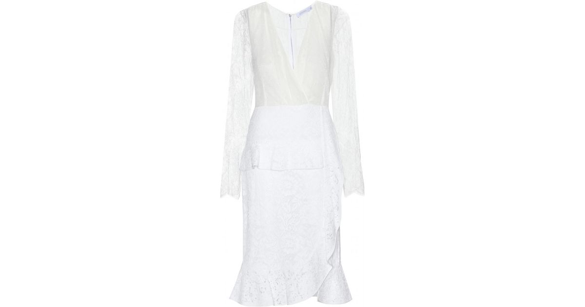Altuzarra white lace dress.