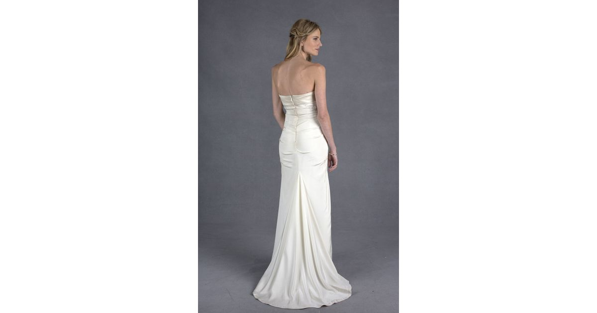 Nicole Miller Camilla Bridal Gown In White (ANTQ WHITE)