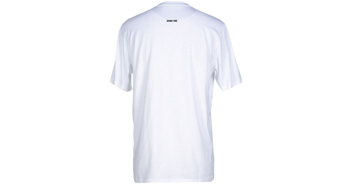 Givenchy t shirt in white for men lyst for Givenchy t shirts for sale